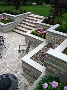 Burr Ridge Sunken Patio and Balcony traditional-patio