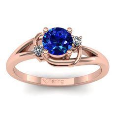 Inel logodna L21RSF cu safir si diamante