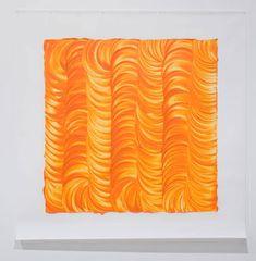 Noel Ivanoff, Levigation - orange I, Raw pigment and acrylic binder on dacron 1400 x 1400 mm Master Of Fine Arts, London Art, Visual Arts, Art School, Binder, Rooms, Inspire, Artists, Orange