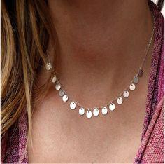 TX1207 Moda simple cadena de oro y plata de Color ronda collar de la borla para las mujeres mejor regalo de la joyería