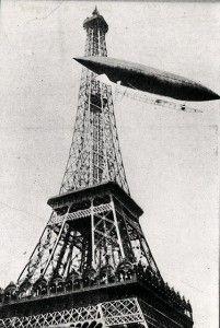 October 19, 1901: Alberto Santos-Dumont flew dirigible No. 6 around the Eiffel Tower during his flight to win the Deutsch prize.