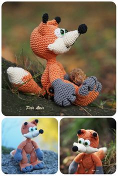 #Handmade #Fox, Fox Woodland, Fox #Toy, Fox #Stuffed #Animal,#crocheted fox, #Zoo #Plush, #Dolls and #Miniatures #Amigurumi #petslair