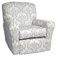 Little Castle Reclining Swivel Glider - The Linen Bordeaux Collection.Opens in a new window