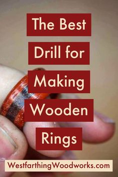 This is the one kind of drill that you need for making wooden rings. You will not need to spend a lot, and you can make perfectly smooth holes that require a lot less sanding. Here is how you do it. Happy building.