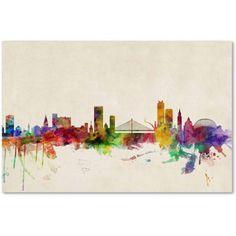 Trademark Fine Art Liege, Belgium Canvas Art by Michael Tompsett, Size: 22 x 32, Multicolor