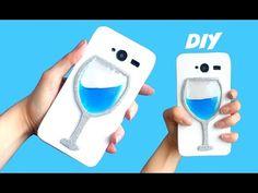 DIY FUNDA LÍQUIDA para móvil - Copa de agua o vino con líquido - YouTube