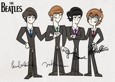 The Beatles in TD style by RottenNails.deviantart.com on @deviantART