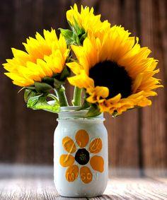 Thumbprint Flower Mason Jar   Mason Jar Crafts Love