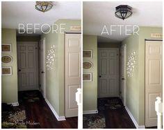 Spray Painted Light Fixture