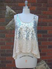 All That Glitters is a Silver Tank Top
