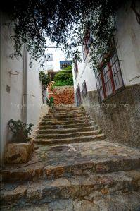 town stairs... Mojacar, Spain