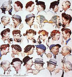 Norman Rockwell - The gossips