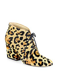 Kate Spade New York - Roger Leopard-Print Calf Hair Ankle Boots
