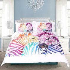Buy BeddingOutlet Safari Zebra Bedding Set Printed Duvet Cover Set Colored Animal Bed Cover Pillow Case Twin Full Queen King Home . King Size Bedding Sets, Duvet Bedding Sets, Bed Duvet Covers, Duvet Cover Sets, Cover Pillow, Quilt Cover, Pillow Shams, Bed Sheets Uk, Zebra Print Bedding