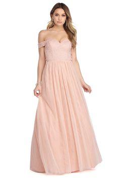 1b20e763a14af Juliet Pink Off The Shoulder Tulle Dress Blush Pink Bridesmaid Dresses, Ball  Dresses, Prom
