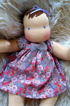 Reserved for Jess. Baby Waldorf Doll. Cloth Waldorf by Mojalala