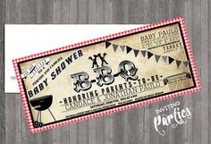 Vintage Baby cowboy bbq themed-  western baby girl or boy Shower or  Birthday invite diy print file PRINT YOUR OWN. $15.99, via Etsy.