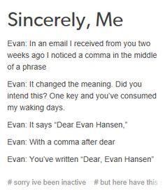 """omg omg omg // *sings """"dear evan hansen"""" to the tune of """"dear theodosia""""*"""