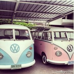 Pink and Blue Volkswagon photography vintage car hipster hippie hippy volkswagon automobile I soooo would love these...his n hers awwww