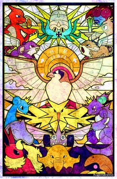 hajimikimoart:  Twitch Plays Pokemon Red the Holy Journey. I'll be selling this as a poster print at Anime Boston and Anime Next for those o...