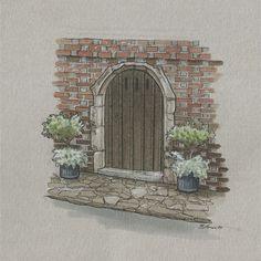 England Countryside, Polychromos, Urban Sketchers, Copic, Sims, Contrast, Sketches, Facebook, Check