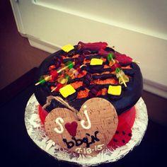 BBQ themed Wedding Rehearsal Cake