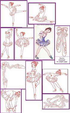 Ballerina embroidery designs