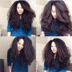 Get the most natural healthy-looking Dominican blowout or Kinky Curly stretched. hair weave look with movement. Perfectly blends with and even hair texture! Pelo Natural, Long Natural Hair, Natural Hair Growth, Natural Hair Blowout, Natural Beauty, Curly Hair Styles, Natural Hair Styles, Hair Care, Pelo Afro