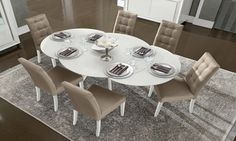 Camelgroup Dama Bianca White Round Extendable Dining Table | Milk Interiors
