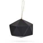 Solid Geometric Christmas Tree Ornament - Black