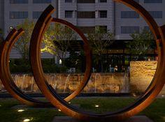 Art. Citygarden, St. Louis. Nelson Byrd Woltz Landscape Architects...bernard venet