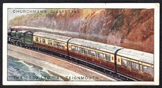 """https://flic.kr/p/CEdw4P   Cigarette Card - """"The 1030 Ltd"""" at Teignmouth   Churchman's Cigarettes """"Famous Railway Trains"""" (series of 25 issued in 1929) #2  """"The 1030 Ltd"""" at Teignmouth, Devon"""