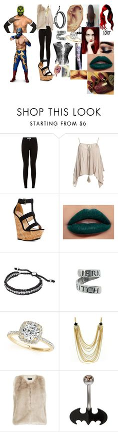 """A hardy and the Masked Man(Sin Cara(Hunico) Love Story)"" by anaeve ❤ liked on Polyvore featuring New Look, Sans Souci, JustFab, CO, Links of London, Allurez and Topshop"