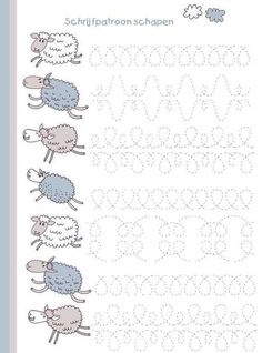 sheep writing pattern for preschool , free printable. Pre Writing, Writing Practice, Writing Skills, Educational Activities, Learning Activities, Preschool Activities, Preschool Writing, Preschool Worksheets, Childhood Education
