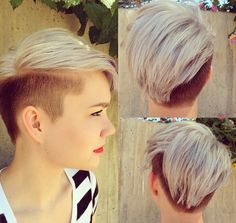 Undercut Hairstyles With Hair Tattoos For Women With Short Or - Undercut hairstyle pixie