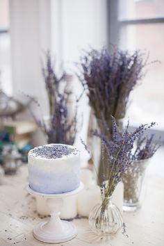 Mini lavender wedding cake | Elisaveta Sudarikova | see more on: http://burnettsboards.com/2015/06/lavender-bride/