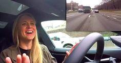 Elle conduit une Tesla autopilote à New York!  Seriez-vous assez brave pour tenter cette expérience? http://rienquedugratuit.ca/videos/elle-conduit-une-tesla-autopilote-a-new-york/