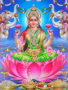 Presenting the Reprint Paper Posters of Goddess Lakshmi Shiva Hindu, Shiva Shakti, Hindu Deities, Hindu Art, Durga Images, Lakshmi Images, Lord Krishna Images, Divine Goddess, Kali Goddess