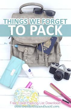 We all tend to forget things while packing or in transit in between destinations...but wouldn't it be great to never forget the important things again?