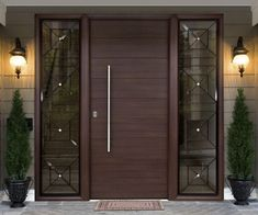 Are you looking for the best wooden doors for your home that suits perfectly? Then come and see our new content Wooden Main Door Design Ideas. Modern Entrance Door, Main Entrance Door Design, Home Entrance Decor, Modern Front Door, House Entrance, Entrance Doors, Doorway, Single Front Door Designs, Wooden Front Door Design