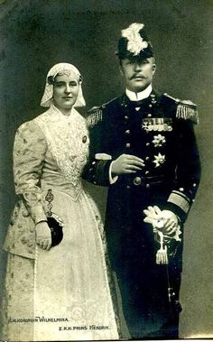 Queen Wilhelmina and Prince Consort Hendrik of the Netherlands.