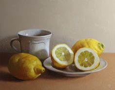 Tea cup with Lemons - Christopher Thornock http://christopherthornock.com/