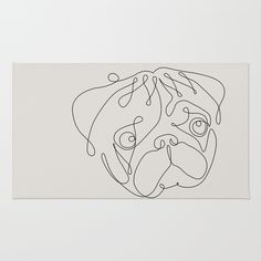 """See our internet site for even more info on """"pug dogs"""". It is an outstanding place for more information. Dog Line Art, Dog Art, Wall Drawing, Line Drawing, Tatoo Pug, Body Art Tattoos, Girl Tattoos, Pugs, Line Sketch"""