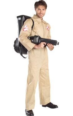 Men's Fancy Dress Costumes- From Superhero, Pirate, historical, decades and beyond. Our Fancy Dress range includes laugh-out-loud funny costumes sure to get a rise, and best of all our Men's Costumes are at very cheap prices. Costume Ghostbusters, Ghostbusters Fancy Dress, The Ghostbusters, 1980s Halloween Costume, Looks Halloween, Adult Halloween, Halloween Party, 80s Party