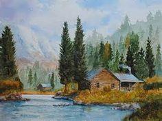 cabin Watercolor Paintings - Bing images