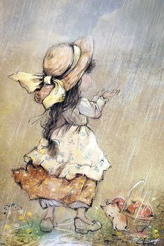 - Catherine Babok, a Russian Illustrator? Cute Images, Cute Pictures, Sarah Key, Sweet Drawings, Cute Paintings, Holly Hobbie, Children Images, Beatrix Potter, Children's Book Illustration