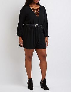 984d71088f3 Plus Size Lattice-Front Romper   Read more reviews of the product by  visiting the