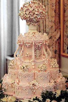 Victorian wedding cake.