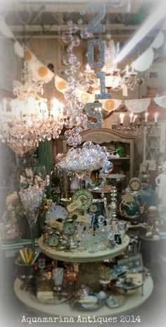 New Year's Eve Vignette Aquamarina Antiques @sweetsalvage on 7th Ave in Phoenix, AZ