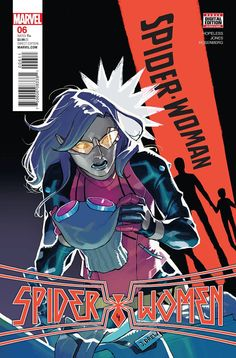 SPIDER-WOMEN, PART 4! • Reeling from the revelations of SILK #7, Jessica Drew takes matters into her own hands, damn the consequences! • And has Gwen found a way to get Jess and Silk home?